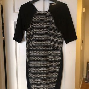 Rachel Roy Fitted Patterned Dress